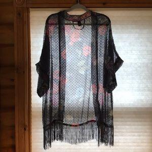 Sheer Open Kimono/Wrap